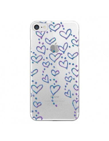 Coque Floating hearts coeurs flottants Transparente pour iPhone 7 et 8 - Sylvia Cook