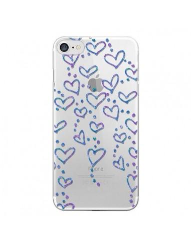 Coque iPhone 7 et 8 Floating hearts coeurs flottants Transparente - Sylvia Cook