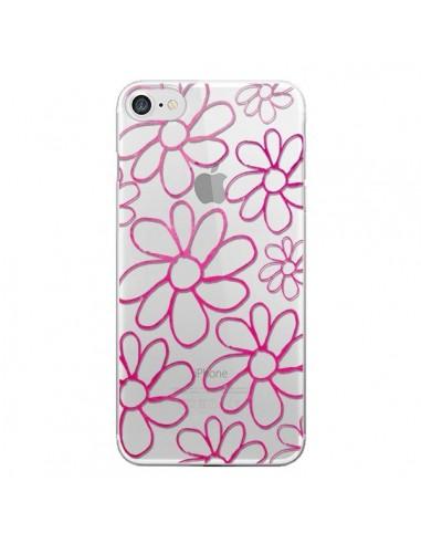 Coque Flower Garden Pink Fleur Transparente pour iPhone 7 et 8 - Sylvia Cook