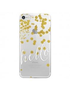 Coque Hello, Bonjour Transparente pour iPhone 7 et 8 - Sylvia Cook
