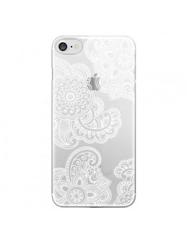 Coque Lacey Paisley Mandala Blanc Fleur Transparente pour iPhone 7 et 8 - Sylvia Cook