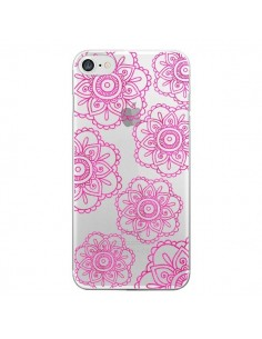 Coque Pink Doodle Flower Mandala Rose Fleur Transparente pour iPhone 7 et 8 - Sylvia Cook