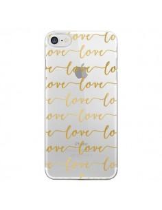 Coque iPhone 7/8 et SE 2020 Love Amour Repeating Transparente - Sylvia Cook