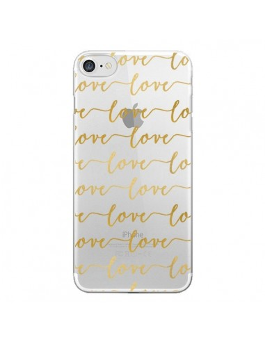 Coque Love Amour Repeating Transparente pour iPhone 7 et 8 - Sylvia Cook
