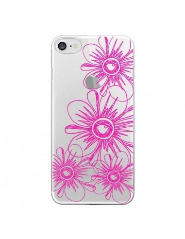 Coque iPhone 7 et 8 Spring Flower Fleurs Roses Transparente - Sylvia Cook