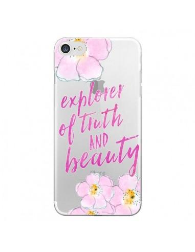 Coque Explorer of Truth and Beauty Transparente pour iPhone 7 et 8 - Sylvia Cook
