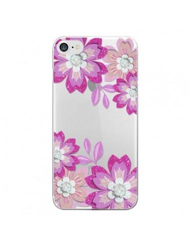Coque Winter Flower Rose, Fleurs d'Hiver Transparente pour iPhone 7 et 8 - Sylvia Cook
