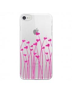 Coque Love in Pink Amour Rose Fleur Transparente pour iPhone 7 et 8 - Sylvia Cook
