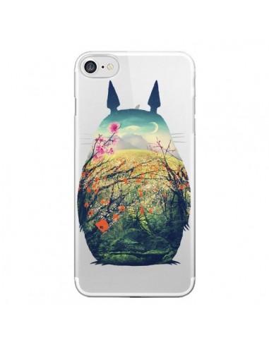 Coque iPhone 7 et 8 Totoro Manga Comics Transparente - Victor Vercesi