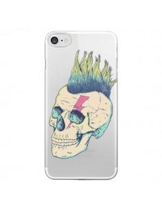 Coque Tête de Mort Crane Punk Transparente pour iPhone 7 - Victor Vercesi