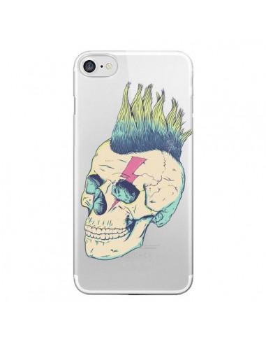 Coque Tête de Mort Crane Punk Transparente pour iPhone 7 et 8 - Victor Vercesi