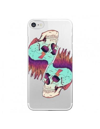 Coque Tête de Mort Crane Punk Double Transparente pour iPhone 7 et 8 - Victor Vercesi