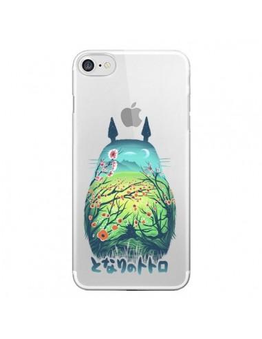 coque iphone 7 8 se 2020 totoro manga flower transparente victor vercesi