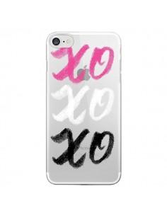 Coque XoXo Rose Blanc Noir Transparente pour iPhone 7 - Yohan B.