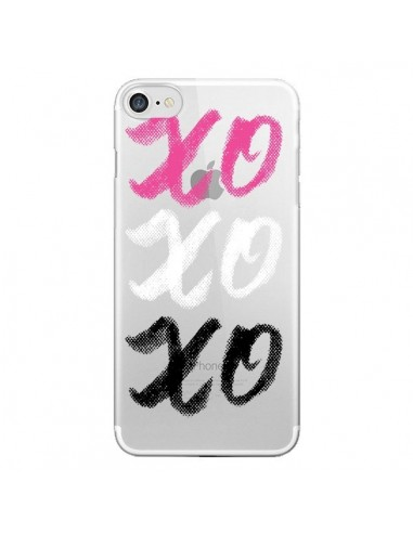 Coque XoXo Rose Blanc Noir Transparente pour iPhone 7 et 8 - Yohan B.