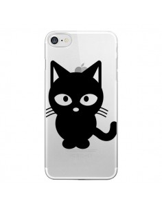 Coque Chat Noir Cat Transparente pour iPhone 7 - Yohan B.