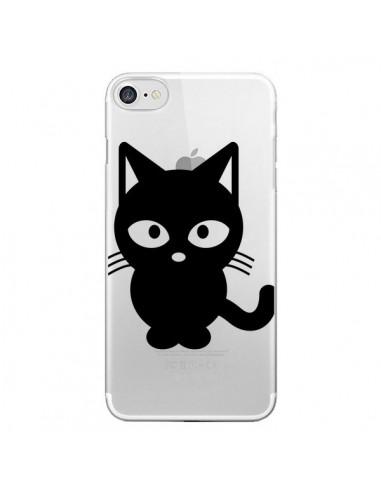 Coque Chat Noir Cat Transparente pour iPhone 7 et 8 - Yohan B.