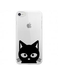 Coque Tête Chat Noir Cat Transparente pour iPhone 7 - Yohan B.