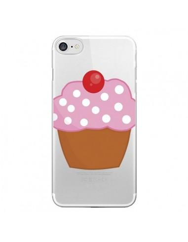 Coque iPhone 7 et 8 Cupcake Cerise Transparente - Yohan B.