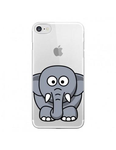 Coque iPhone 7 et 8 Elephant Animal Transparente - Yohan B.