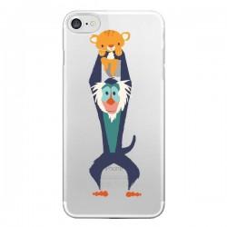 Coque iPhone 7/8 et SE 2020 Futur Roi Lion King Rafiki Transparente - Jay Fleck