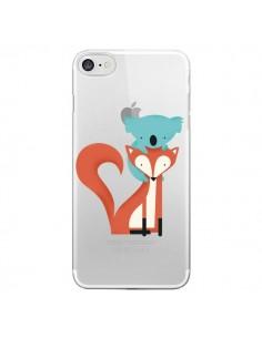 Coque Renard et Koala Love Transparente pour iPhone 7 - Jay Fleck
