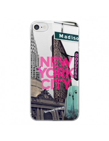 Coque New Yorck City NYC Transparente pour iPhone 7 et 8 - Javier Martinez