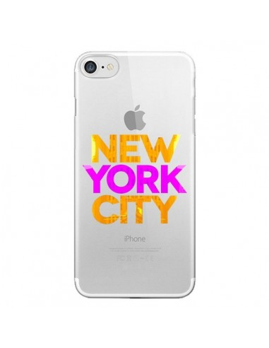 Coque New York City NYC Orange Rose Transparente pour iPhone 7 et 8 - Javier Martinez