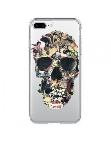 Coque iPhone 7 Plus et 8 Plus Skull Vintage Tête de Mort Transparente - Ali Gulec