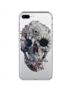 Coque iPhone 7 Plus et 8 Plus Floral Skull Tête de Mort Transparente - Ali Gulec