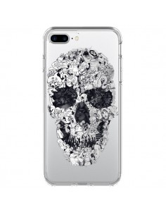 Coque iPhone 7 Plus et 8 Plus Doodle Skull Dessin Tête de Mort Transparente - Ali Gulec