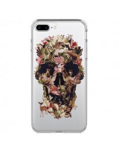 Coque iPhone 7 Plus et 8 Plus Jungle Skull Tête de Mort Transparente - Ali Gulec