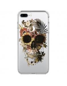 Coque iPhone 7 Plus et 8 Plus Garden Skull Tête de Mort Transparente - Ali Gulec