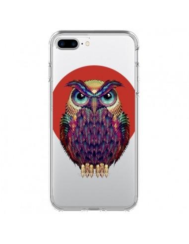 Coque Chouette Hibou Owl Transparente pour iPhone 7 Plus et 8 Plus - Ali Gulec