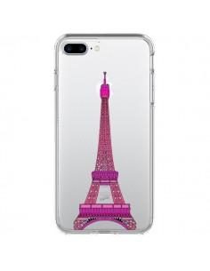 Coque Tour Eiffel Rose Paris Transparente pour iPhone 7 Plus - Asano Yamazaki