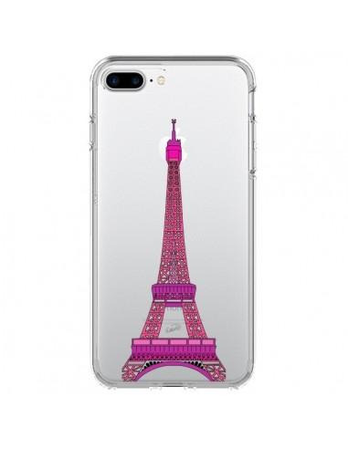 Coque Tour Eiffel Rose Paris Transparente pour iPhone 7 Plus et 8 Plus - Asano Yamazaki