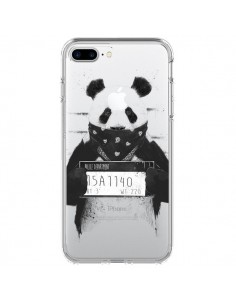 Coque iPhone 7 Plus et 8 Plus Bad Panda Transparente - Balazs Solti