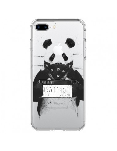 Coque Bad Panda Transparente pour iPhone 7 Plus et 8 Plus - Balazs Solti