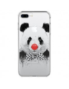 Coque Clown Panda Transparente pour iPhone 7 Plus - Balazs Solti