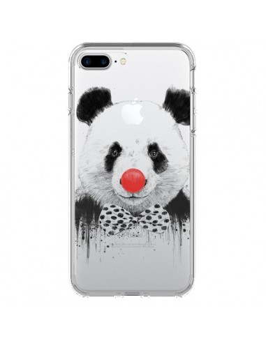 Coque Clown Panda Transparente pour iPhone 7 Plus et 8 Plus - Balazs Solti