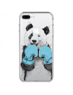 Coque iPhone 7 Plus et 8 Plus Winner Panda Gagnant Transparente - Balazs Solti