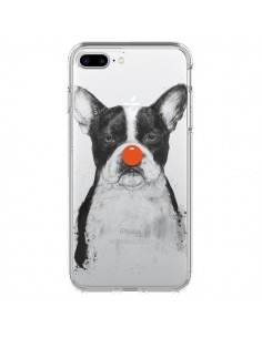 Coque Clown Bulldog Dog Chien Transparente pour iPhone 7 Plus et 8 Plus - Balazs Solti