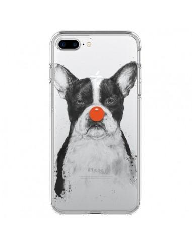 Coque Clown Bulldog Dog Chien Transparente pour iPhone 7 Plus et 8 Plus - Balazs Solti
