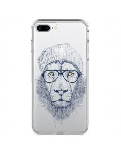 Coque iPhone 7 Plus et 8 Plus Cool Lion Swag Lunettes Transparente - Balazs Solti