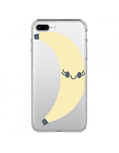Coque Banana Banane Fruit Transparente pour iPhone 7 Plus et 8 Plus - Claudia Ramos