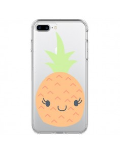 Coque iPhone 7 Plus et 8 Plus Ananas Pineapple Fruit Transparente - Claudia Ramos