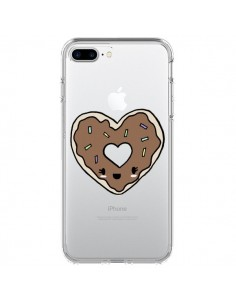 Coque Donuts Heart Coeur Chocolat Transparente pour iPhone 7 Plus et 8 Plus - Claudia Ramos