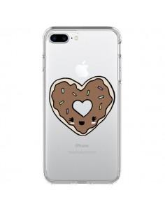 Coque iPhone 7 Plus et 8 Plus Donuts Heart Coeur Chocolat Transparente - Claudia Ramos