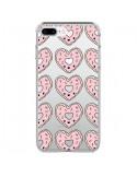 Coque Donuts Heart Coeur Rose Pink Transparente pour iPhone 7 Plus et 8 Plus - Claudia Ramos