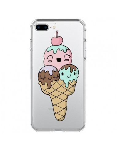 Coque Ice Cream Glace Summer Ete Cerise Transparente pour iPhone 7 Plus et 8 Plus - Claudia Ramos